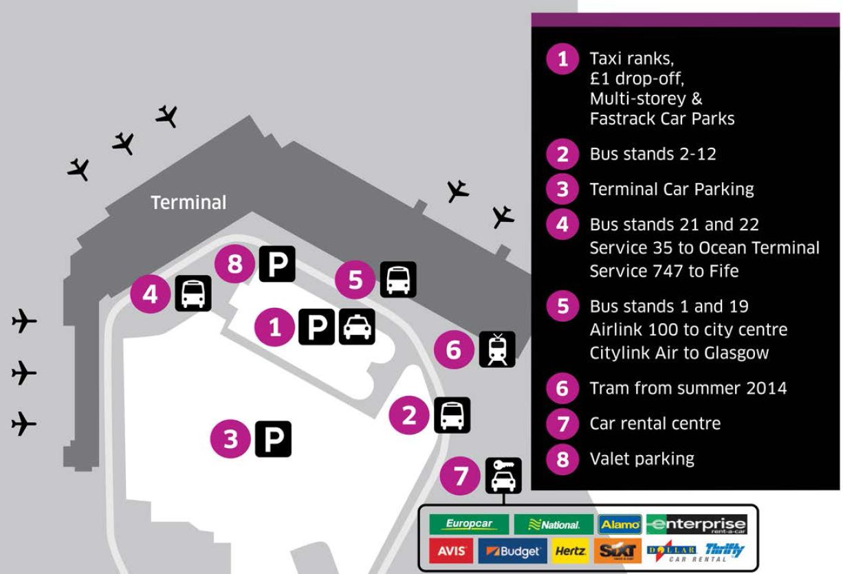 Edinburgh Airport Map