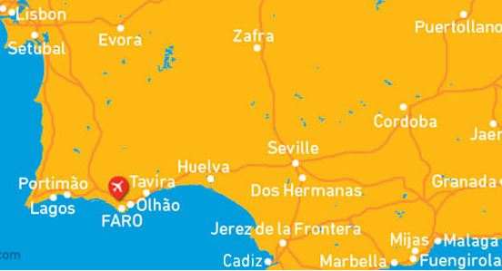 faro airport car hire map