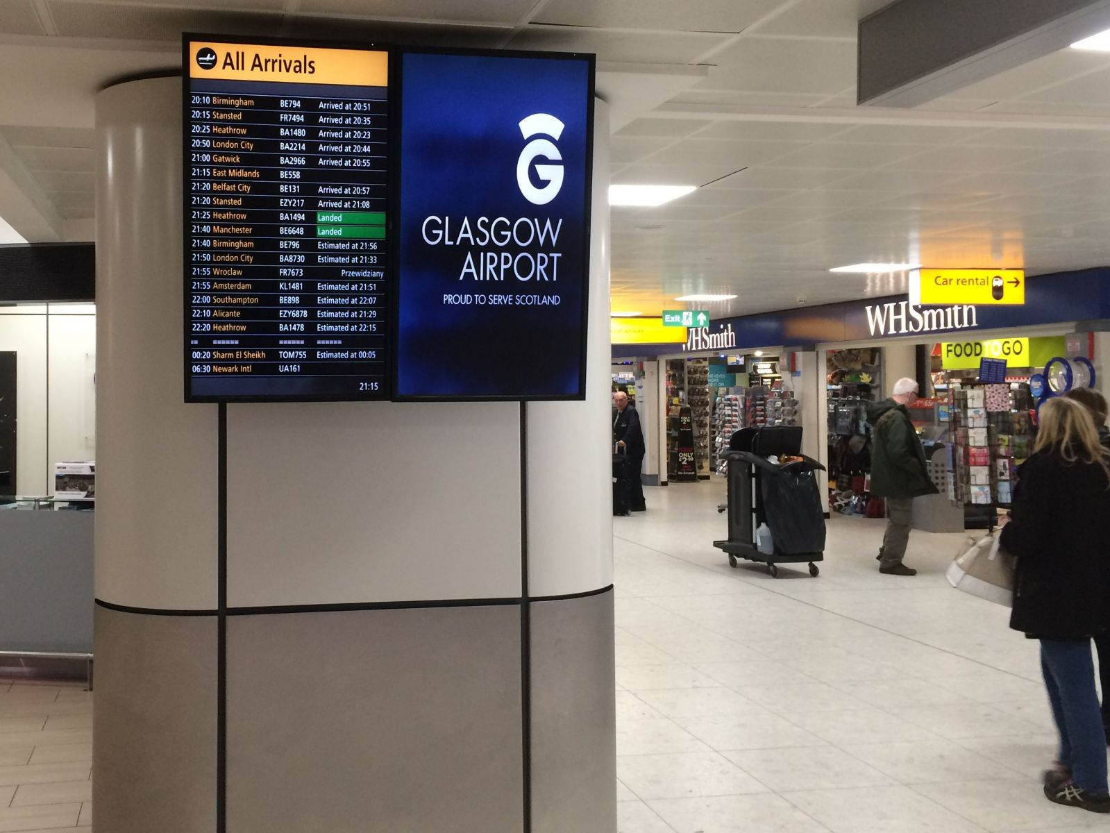 Easy car rental at Glasgow Airport