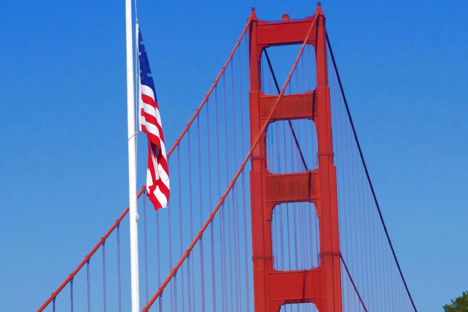 Golden Gate Flag