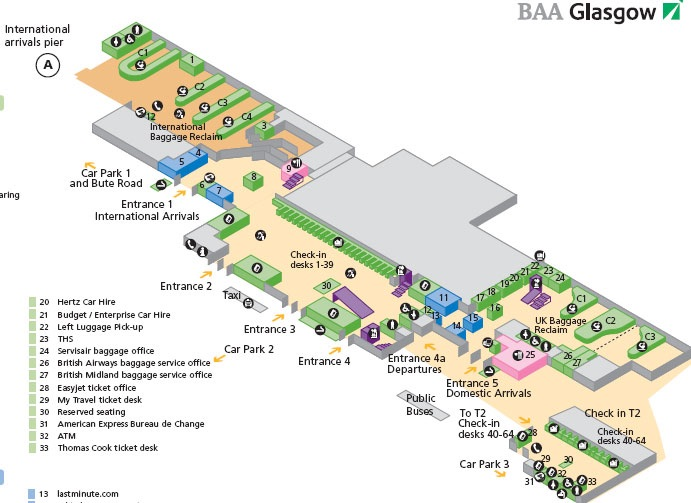 Map of Glasgow Airport